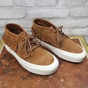 VANS Chukka Moccasin style suede shoe with fringe
